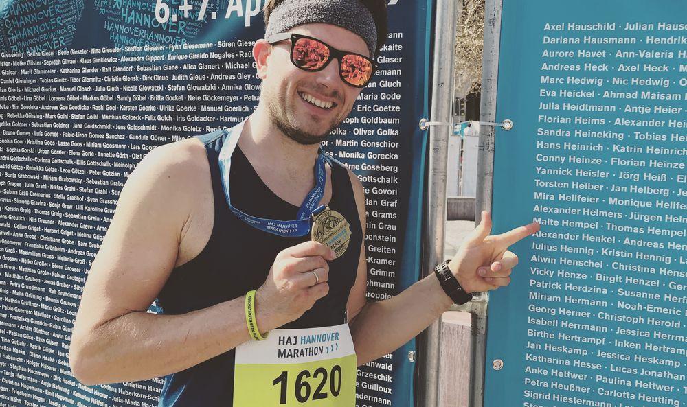 Malte Hempel beim 28. HAJ Hannover Marathon 2019