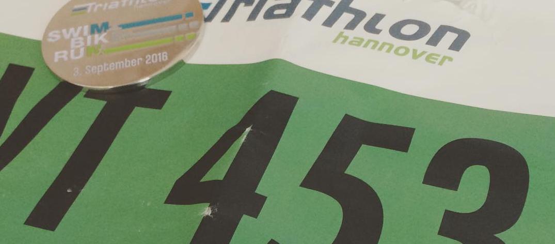 Startnummer von Malte Hempel beim Maschsee Triathlon Hannover 2016