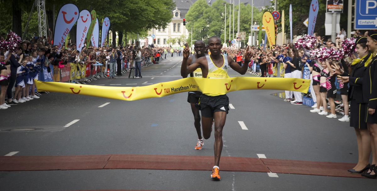 Sieger beim TUI Marathon Hannover 2014 in Hannover