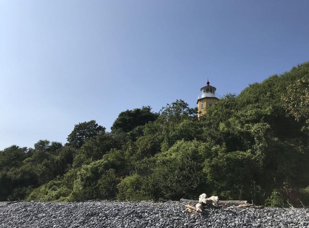 Leuchturm an der Ostküste von Møn