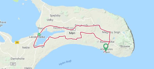 Klintholm Havn-Route