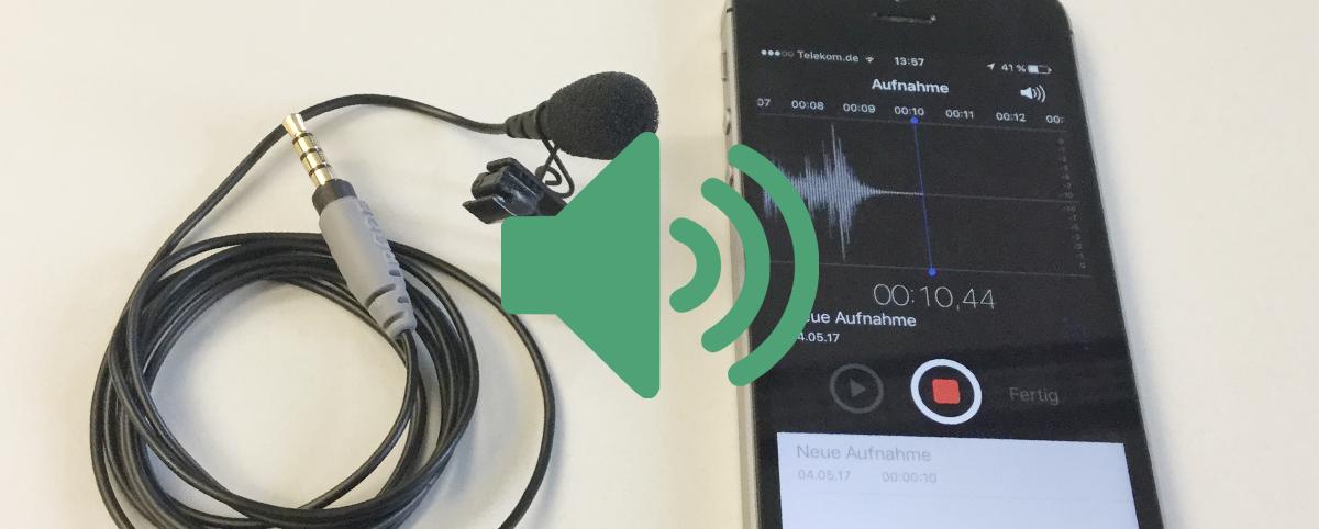 Bild eines iPhones mit geöffneter Sprachmemo-App