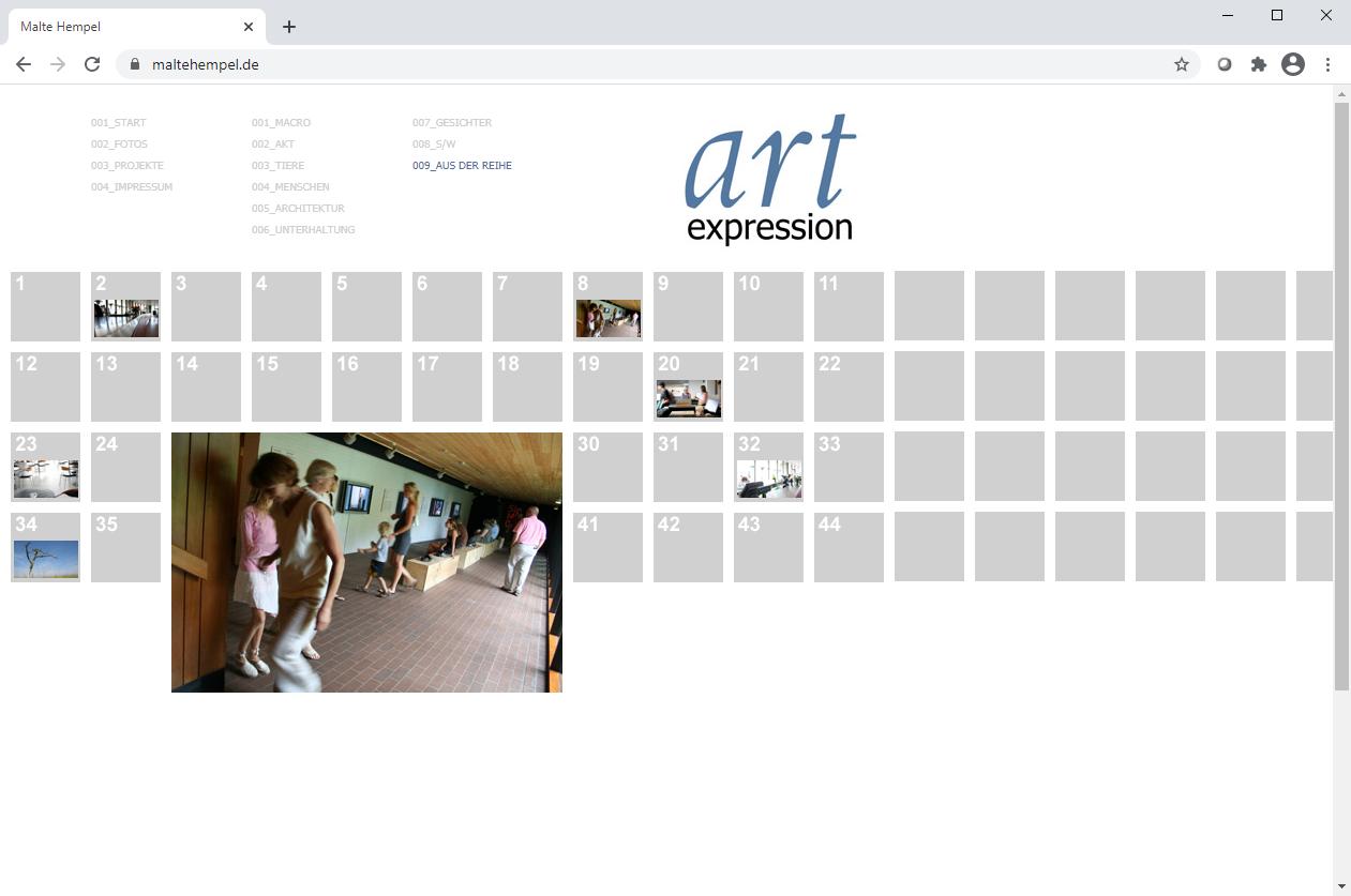 Webseite von Malte Hempel aus dem Jahr 2007.
