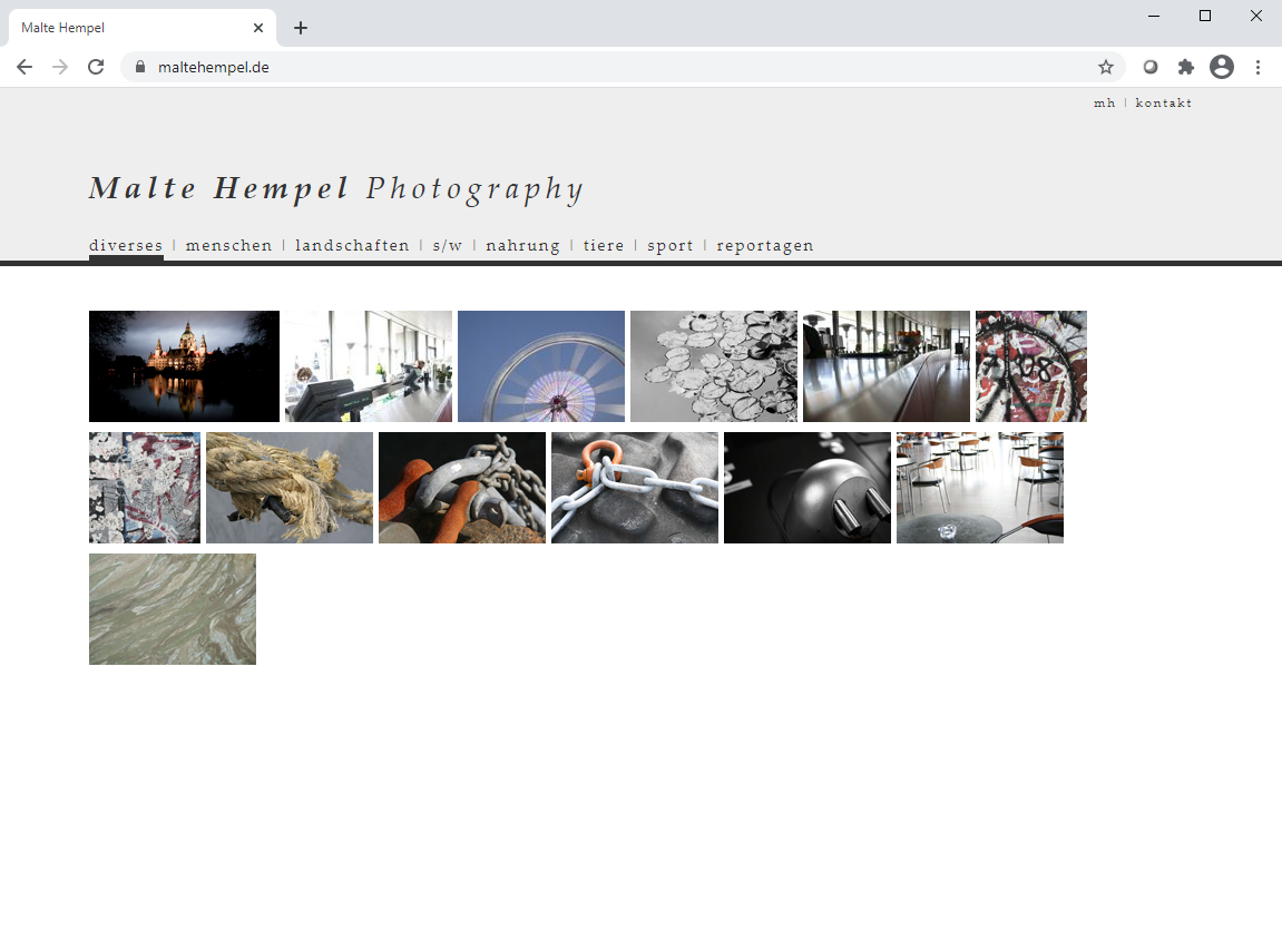 Klassische Schriftarten waren en vogue; Webseite aus dem Jahr 2011.